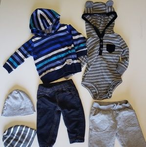 🔮 6month baby 6pc bundle lot - onesies and pants